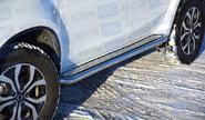 Защита порогов с алюм. площ. «ПТ Эстонец» Ø51мм (НПС) 07010205 для Renault Duster 2016
