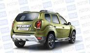 Защита порогов с накладками «ПТ» Ø63мм (НПС) 07010203 для Renault Duster 2012-2015, 2016