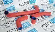 Патрубки радиатора для ВАЗ 2101-06, армированный каучук, красные