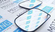 Комплект зеркальных элементов (стекол) ДААЗ (квадрат) с обогревом и нейтральным антибликом для Шевроле Нива