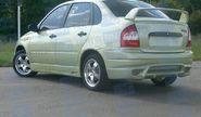 Задний бампер «SSR» для Лада Калина седан