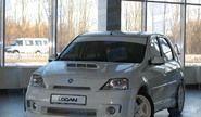 Передний бампер с решеткой «POWER DM» неокрашенный для Renault Logan