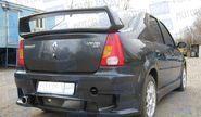 Задний бампер «POWER DM» неокрашенный для Renault Logan
