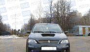 Передний бампер с решеткой «POWER DM 2» неокрашенный для Renault Logan