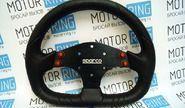Спортивный руль с кнопками (040) под SPARCO (не оригинал) на автомобили ВАЗ