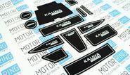 Комплект ковриков панели приборов и консоли на Лада Калина 2
