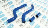 Патрубки радиатора силиконовые синие на ВАЗ 2108-21099 карбюратор