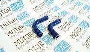Патрубки печки силиконовые синие на Лада Нива 2121, 2131 карбюратор