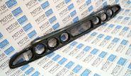 Нижняя решетка переднего бампера под 3 комплекта ПТФ (exclusive) на Лада Приора в цвет