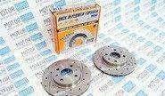 Передние тормозные диски Alnas Sport Euro 2110 (R13, насечки, перфорация, вентилируемые)