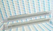 Алюминиевые пороги серые с белым АБС на Лада Калина