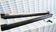 Алюминиевые пороги серые с черным АБС на Лада Калина 2, Гранта, Датсун