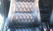 Обивка сидений (не чехлы) экокожа Ромб на ВАЗ 2110