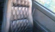 Обивка сидений (не чехлы), экокожа «Ромб» с перфорацией на Лада Гранта