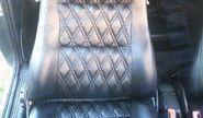 Обивка сидений (не чехлы) экокожа Ромб на Лада Приора седан