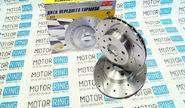 Тормозные диски АТС 2110-05 sport (r13, насечки, перфорация, вентилируемые)