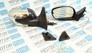 ХалявING! Боковые зеркала Волна черные с хром накладкой и повторителем на ВАЗ 2108-21099, 2113-2115