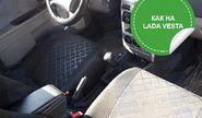 Обивка сидений (не чехлы) термотиснение Скиф на Лада Приора седан