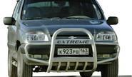 Кенгурятник 0105 «С ушами» с дополнительной защитой двигателя для Шевроле Нива