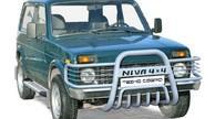 Дуга передняя 0382 «Niva 4х4 с ушами» с дополнительной защитой двигателя d63,5 для Лада 4х4