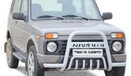 Дуга передняя 0376 «niva 4x4» с усами и дополнительной защитой двигателя d63,5 для Лада 4х4 urban