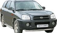 Защита переднего бампера 1735 К «Труба» d63,5 окраш для Hyundai Santa-Fe Classic