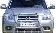 Защита переднего бампера 1746 Н «Высокая» с доп.защитой двигателя нерж для Mazda BT-50 Pickup