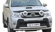 Защита порогов 1679 Н «Труба с проступью» d76 нерж для Toyota Hilux Pickup
