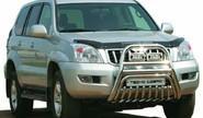Защита переднего бампера 0603 Н d76 нерж для Toyota Land Cruiser Prado 120