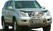 Защита переднего бампера 0603 К d76 окраш для Toyota Land Cruiser Prado 120