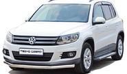 Защита переднего бампера 1803 Н «Труба» d63,5 нерж для Volkswagen Tiguan