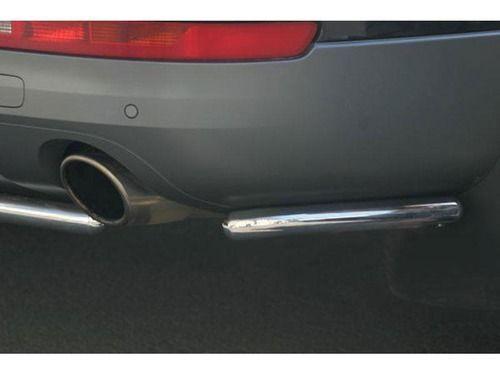 """Защита заднего бампера """"уголки"""" 42 мм. AUDI Q7_1"""