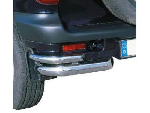 Защита заднего бампера 76мм+48мм, нерж. полиров. Chevrolet Niva_1