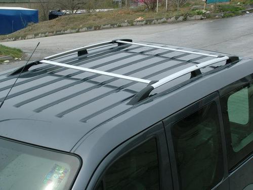 Алюминиевые полированные рейлинги для Ford Connect_1