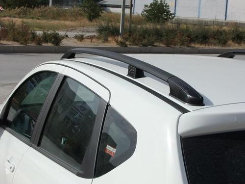 Алюминиевые рейлинги для NISSAN QASHQAI (чёрные)