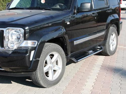 Пороги для JEEP CHEROKEE LIBERTY 2007, ANATOLIA DIAMOND (черного цвета)