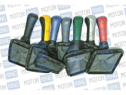 Цветная ручка КПП с пыльником для Лада Приора_1