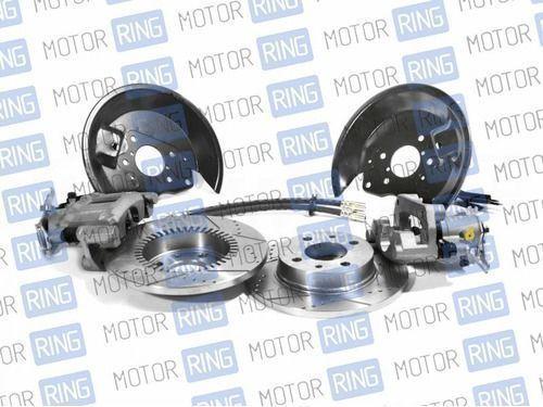 Задние дисковые тормоза Shifton 13 с насечками и перфорацией для ВАЗ 2108-15, ВАЗ 2110-12, Лада Приора, Калина, Гранта_1