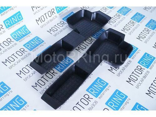 Боковые коврики пола, резиновые для Лада Приора, ВАЗ 2110-12_1