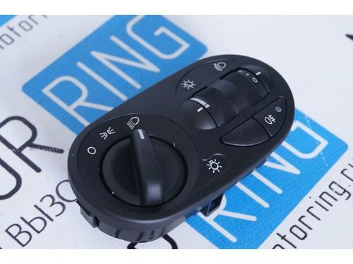 Блок управления светотехникой 11180-3709820, без кнопок включения ПТФ для Лада Калина