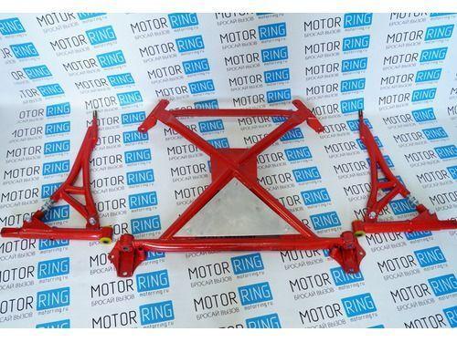 Подрамник с рычагами и треугольной алюминиевой защитой RZ, ПУ для ВАЗ 2108-15_1