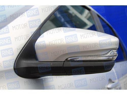 Оригинальные накладки (вставки) на зеркала нового образца под повторители в цвет кузова для Лада Гранта_1