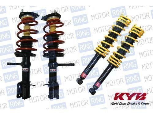 Комплект передней и задней масляной подвески в сборе «KYB Premium» (Каяба) для Лада Приора, занижение -25 мм. до -50мм._1