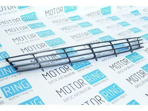 Декоративная решётка радиатора 4 узкие лопасти в цвет кузова для Лада Приора_1