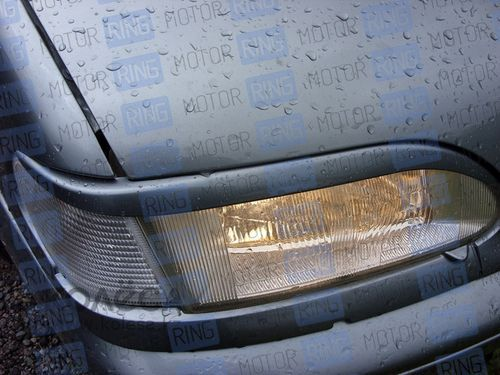 Реснички на фары РФ14-2 в цвет автомобиля прямые для ВАЗ 2113-15