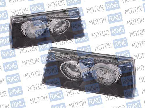 Фары PROSPORT RS-01236 для ВАЗ 2108-099 «BMW 5» с «ангельскими глазками», черные_1