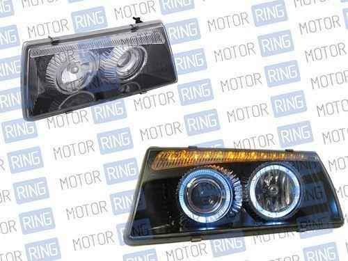 Фары PROSPORT RS-01300 для ВАЗ 2108-099 «BMW 5» с «ангельскими глазками» тонированные, хром._1