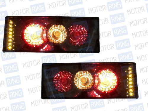 Задние фонари с диодным поворотником, тонированные, для ВАЗ 2108-14_1