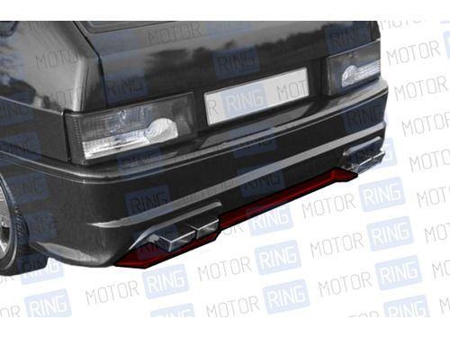 Накладка на задний бампер Лекс в цвет кузова для ВАЗ 2113-14_1