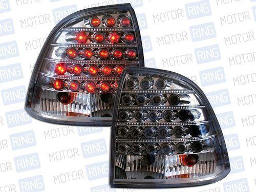 Задние светодиодные фонари для Лада Калина (седан), черный хром RS-03262_1